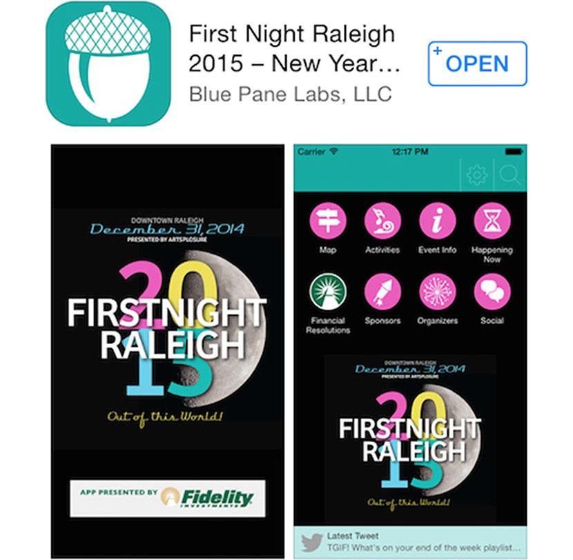 First Night Raleigh 2015 App