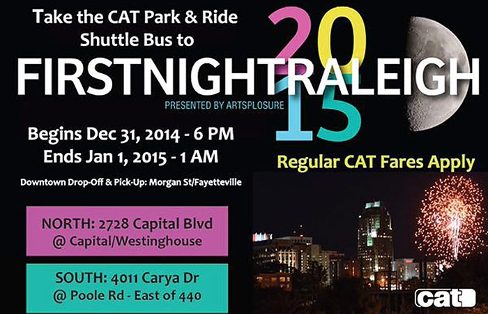 First Night Raleigh 2015 CAT Bus Art