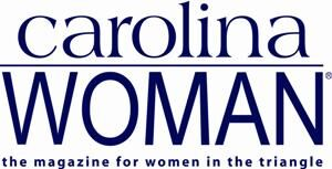 "Carolina Woman Logo - Lovercase ""carolina"" type above uppercase ""WOMAN"" type"