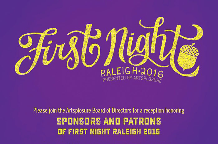 2016 First Night Sponsors And Patrons Reception Graphic