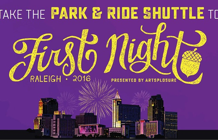2016 First Night Raleigh Park-and-Ride