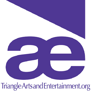 Triangle Arts and Entertainment Logo - Purple triangle above lowercase