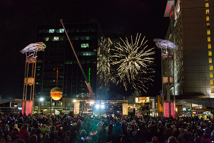2017 First Night Raleigh Acorn Drop In Downtown Raleigh