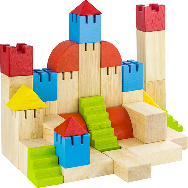 Castle built out of childrens building blocks