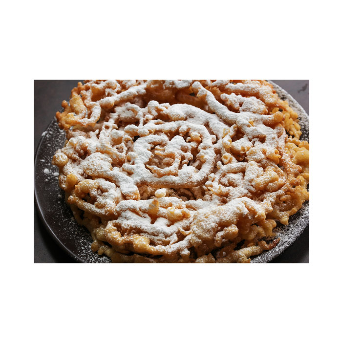 Funnel cake on a plate