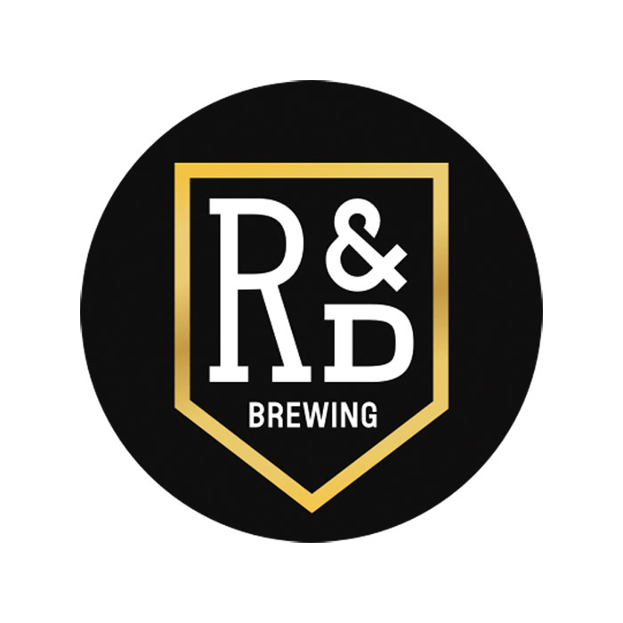 RD Brewing Logo - Black circle with white type inside